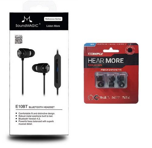 SoundMAGIC E10BT egy ajándék Comply Isolation T-400 memóriahabos fülilleszték csomaggal együtt a MuzixGroup kínálatában.