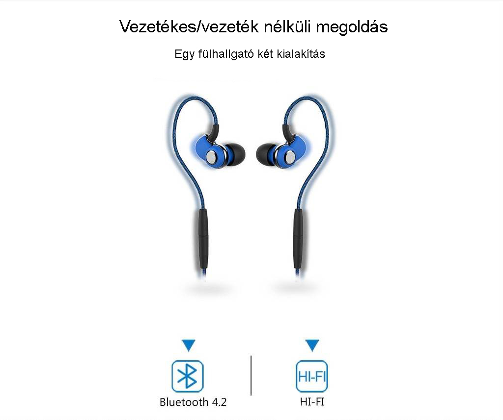 ST30 in-Ear moduláris sport fülhallgató