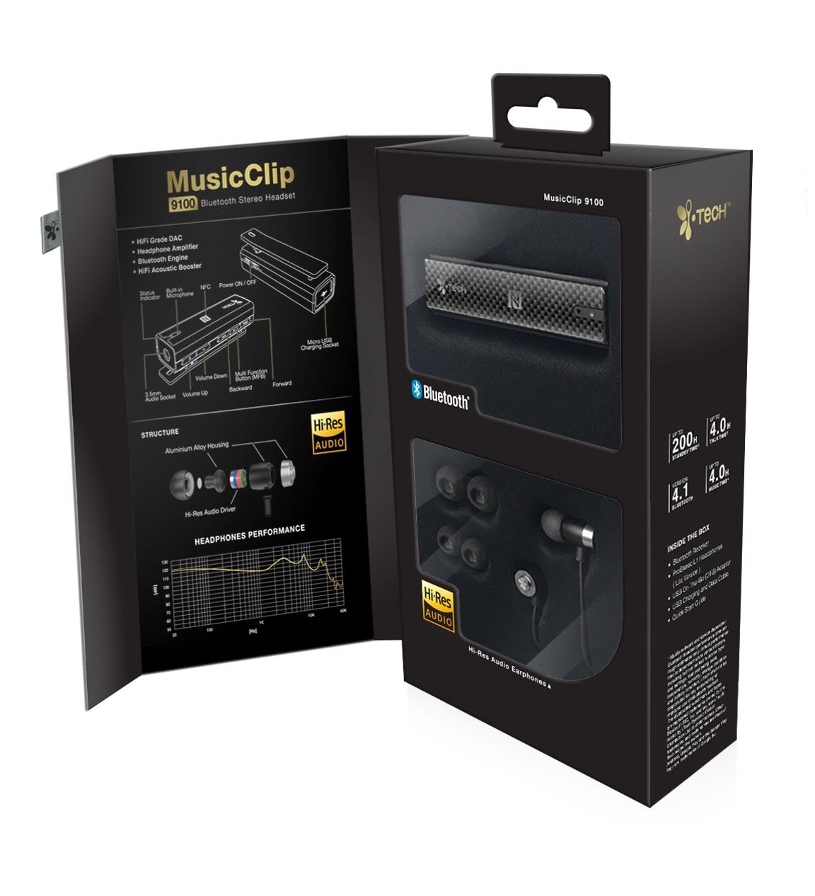iTech MusicClip 9100 Hi-Res 2in1 Erősítő és BT receiver + ProStereo L1 Lite in-ear fülhallgató